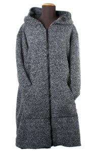 Giaccone invernale con zip e cappuccio